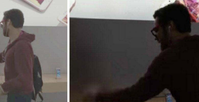 VIDEO: Sujeto irrumpe en un Apple Store para destrozar todo a su paso