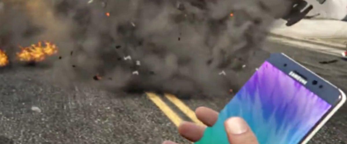 Usan Galaxy Note 7 como granada y desatan el caos