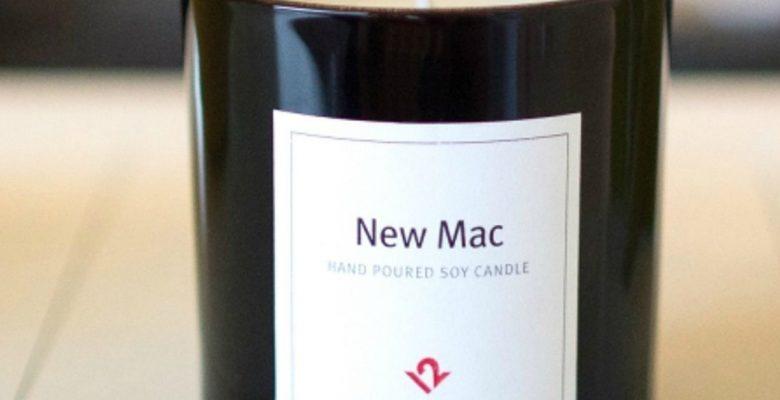 Ya hay una vela aromática con olor a Mac recién sacada de la caja