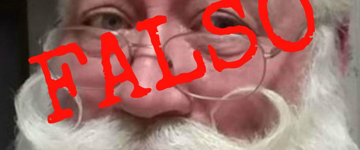 La historia del niño que murió en los brazos de Santa Claus es falsa