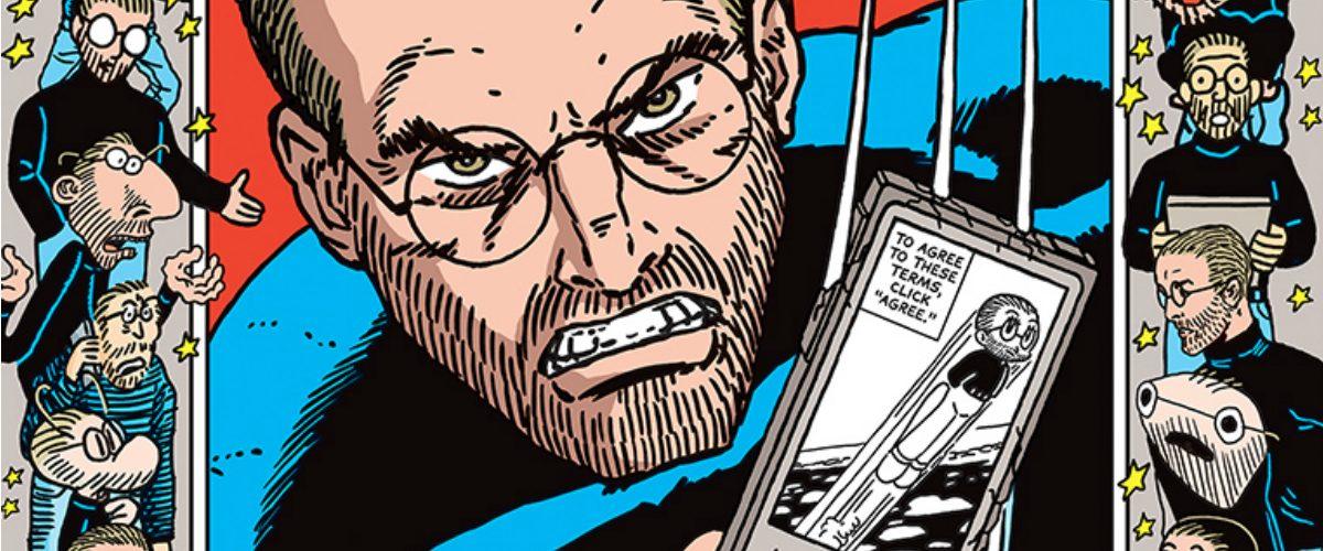 Nadie lee los Términos y Condiciones de iTunes, y por eso convirtieron a Steve Jobs en un superhéroe
