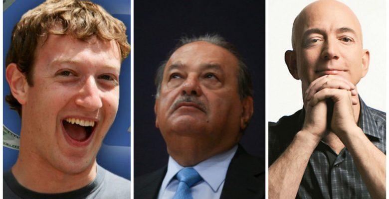 Fundadores de Facebook y Amazon superan a Carlos Slim en lista de Forbes