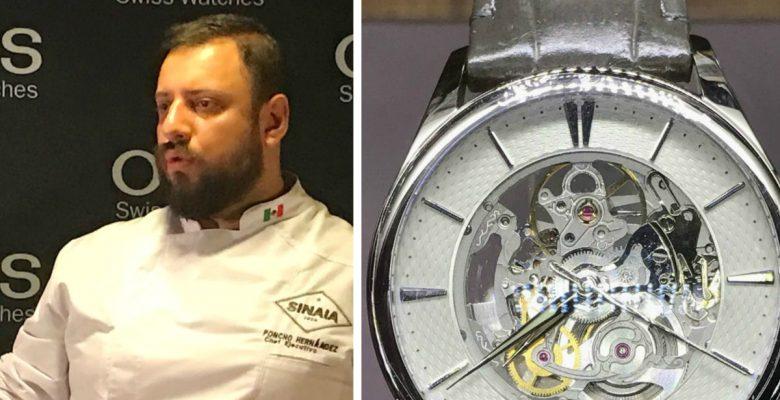 Vimos cómo un chef mexicano convierte en comida un reloj suizo Oris