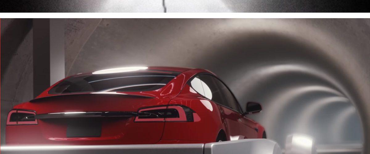Así sería viajar en uno de los túneles subterráneos de Elon Musk