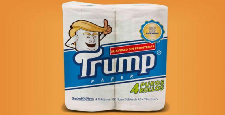 Papel higiénico 'Trump' apoyará a los migrantes