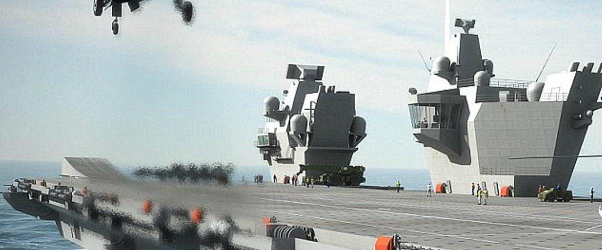 El portaaviones más poderoso de la flota británica usa… ¿Windows XP?