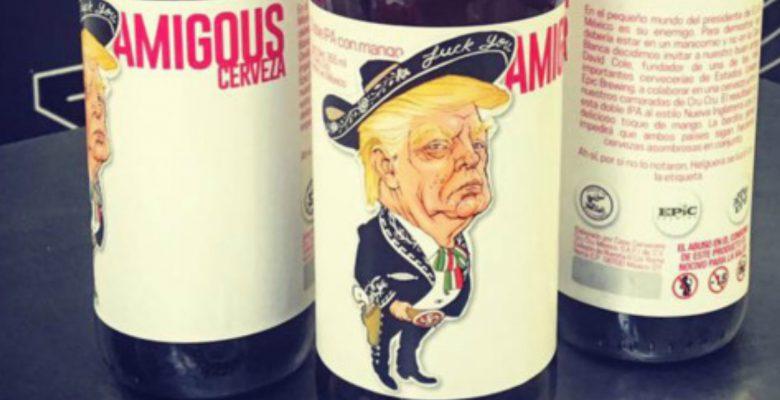 Visten a Trump de mariachi y lo vuelven la mascota de una cerveza