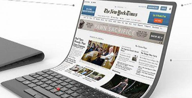 Lenovo podría crear una laptop que se doble como una hoja de papel