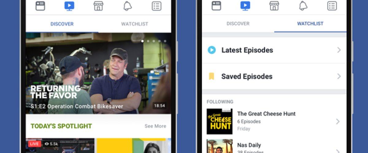 Facebook lanza Watch, su versión de YouTube y Netflix