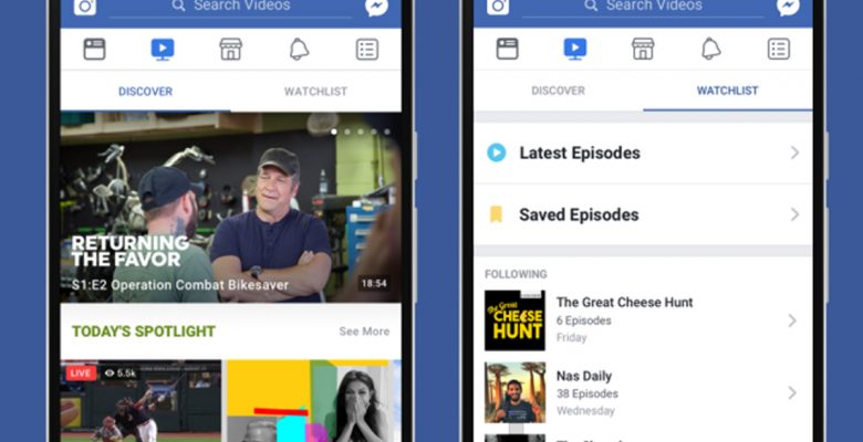 Facebook lanza Watch, su versión de YouTube y Netflix