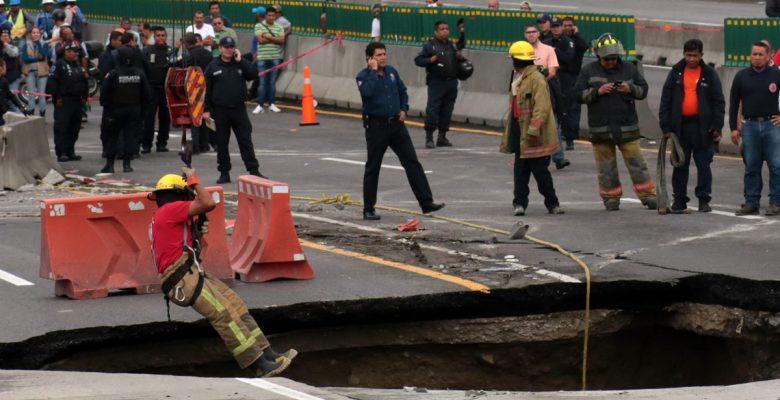 Esto fue lo que ocasionó el socavón en el Paso Exprés de Cuernavaca