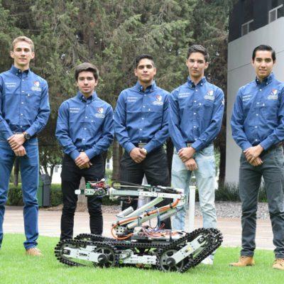 Este robot 100% mexicano busca sobrevivientes del sismo