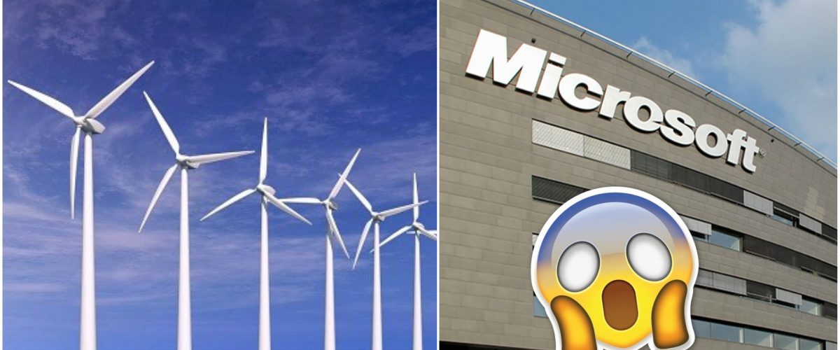 Microsoft y General Electric se unen para comprar parque de energía eólica