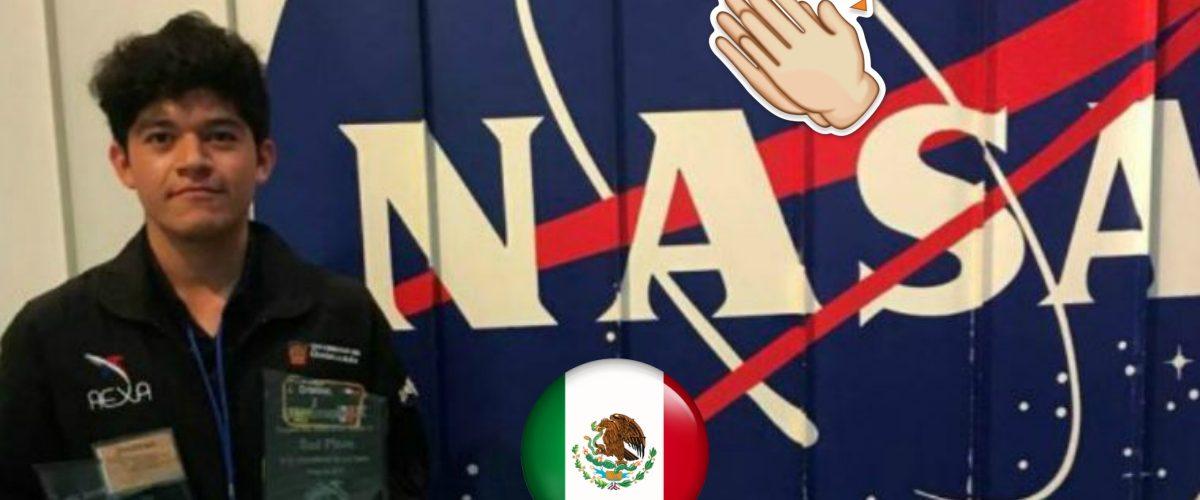 Estudiante mexicano triunfa en la NASA sin apoyo del Gobierno