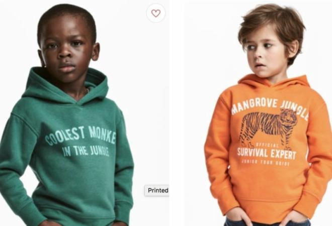 vende hermosa en color zapatos deportivos H&M acusada de racismo por usar a niño negro para modelar ...