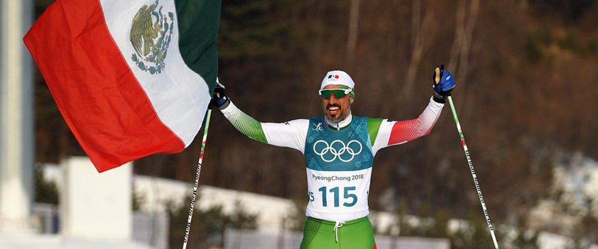 Germán Madrazo, el esquiador que ondea la bandera nacional en PyeongChang