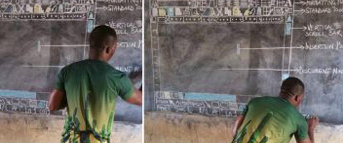¿Te acuerdas del maestro que enseñaba a usar Word con un pizarrón? Así acabó la historia