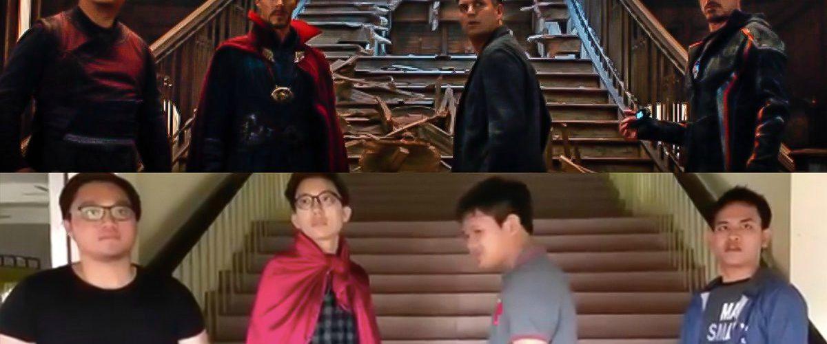 Sin presupuesto, niños asombran a Marvel con su video parodia