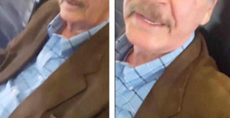 Mujer reclama al expresidente Vicente Fox sobre su pensión en un avión