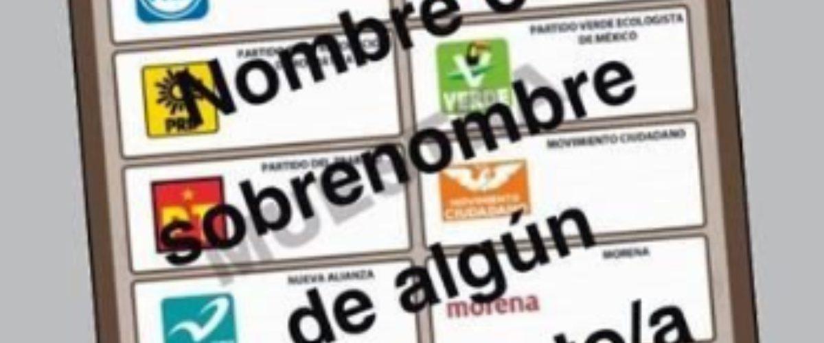 #ÚltimaHora: INE validará votos si la boleta es marcada con nombres o apodos