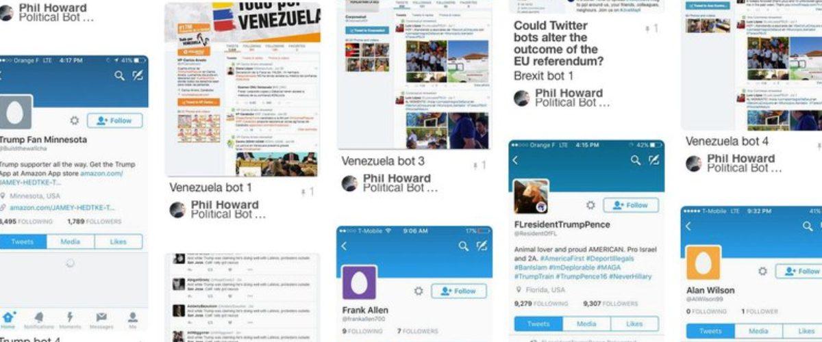 Estudio exhibe a los bots detrás de los candidatos en Twitter