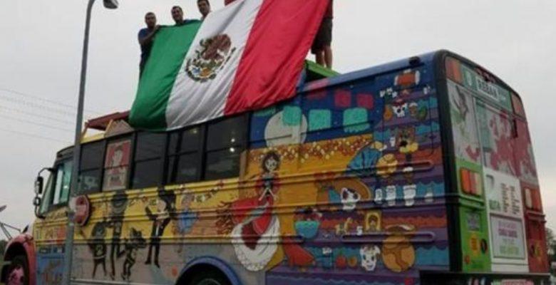 'La Bendición', el autobús mexicano que llegó al Mundial de Rusia 2018