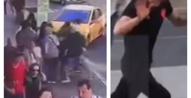 Moscú mexicanos embistió taxi