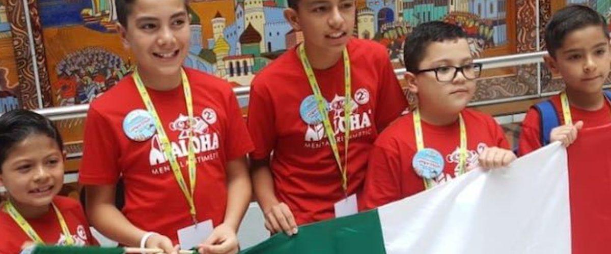 Niños mexicanos ganan campeonato internacional de cálculo mental en Rusia