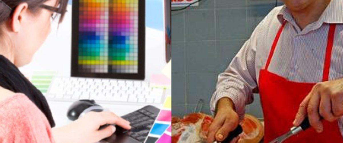 ¿Un carnicero gana más que un diseñador? La verdad de la foto que está rompiendo Internet