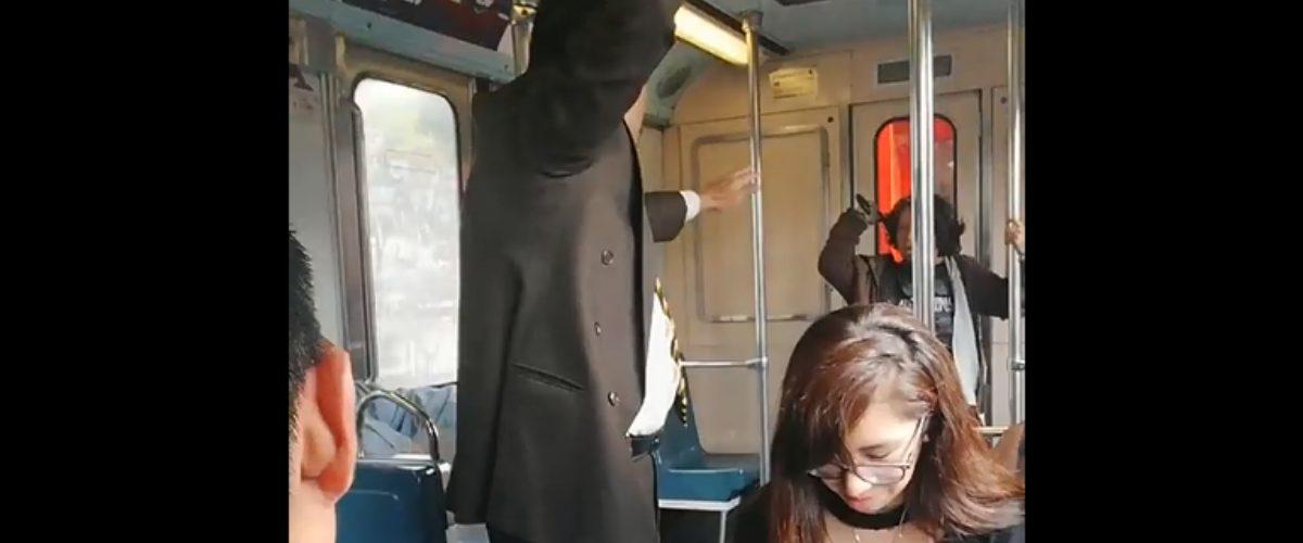 #NoMamar: Alguien realizó un exorcismo en el Metro de la CDMX (VIDEO)