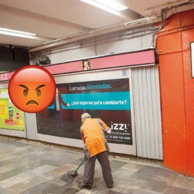 Denuncian en redes sociales caso de abuso de poder en el Metro de la CDMX