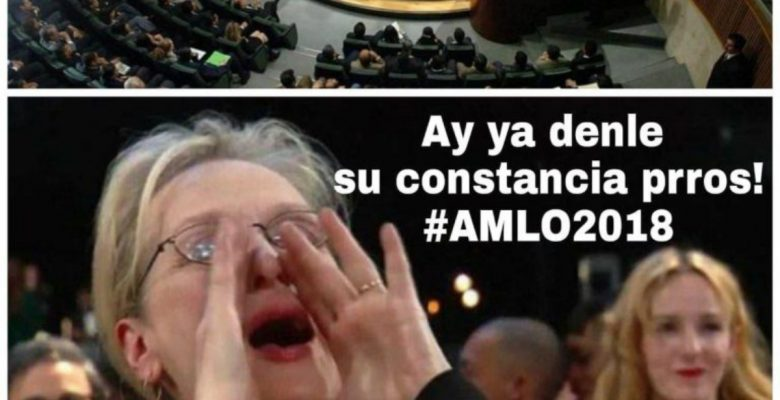 AMLO recibe su constancia de presidente electo y en internet se lucieron con los memes