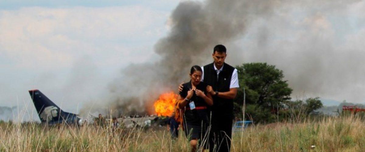 Revelan la causa del desplome del avión de Aeroméxico
