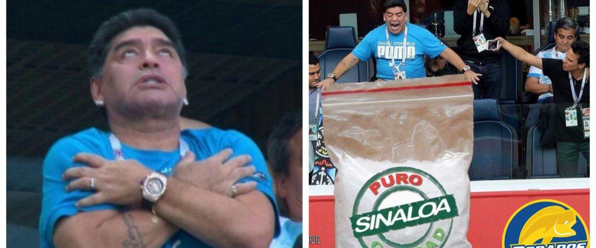 Maradona entrenará a los Dorados de Sinaloa y los mexicanos le dan la bienvenida con estos memes