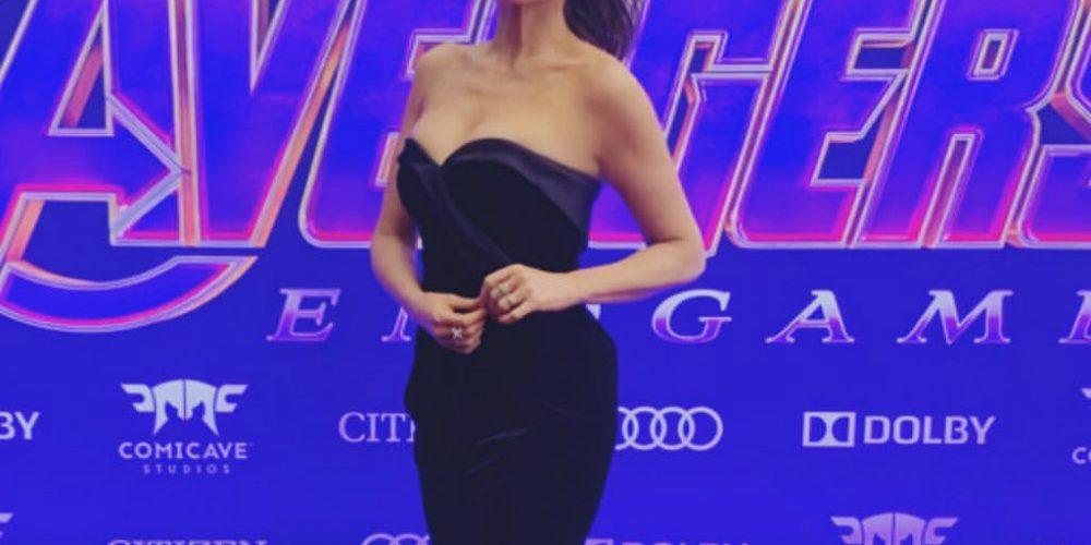 Ana Bárbara va a premier de Avengers y confunde a personajes con los de DC