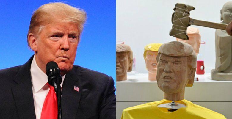 Japoneses lanzan un Trump al que le puedes dar martillazos para reducir el estrés