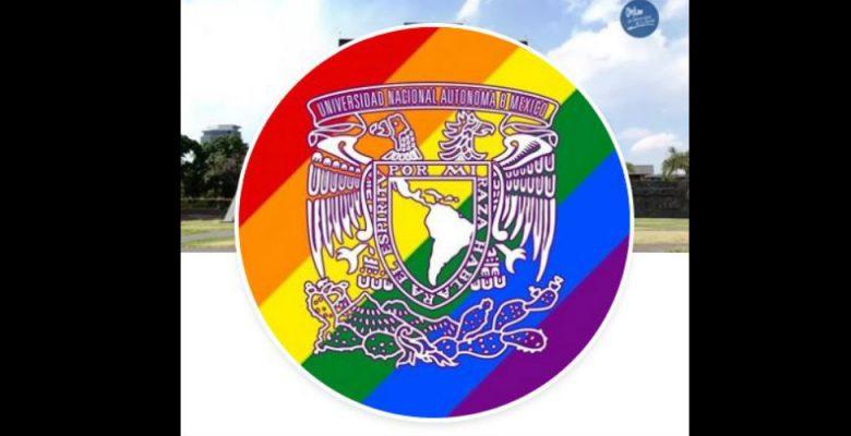 La UNAM causa polémica por ponerle a su escudo la bandera LGBT+