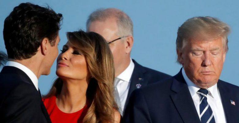 Lo que se esconde detrás del beso entre Melania Trump y Trudeau