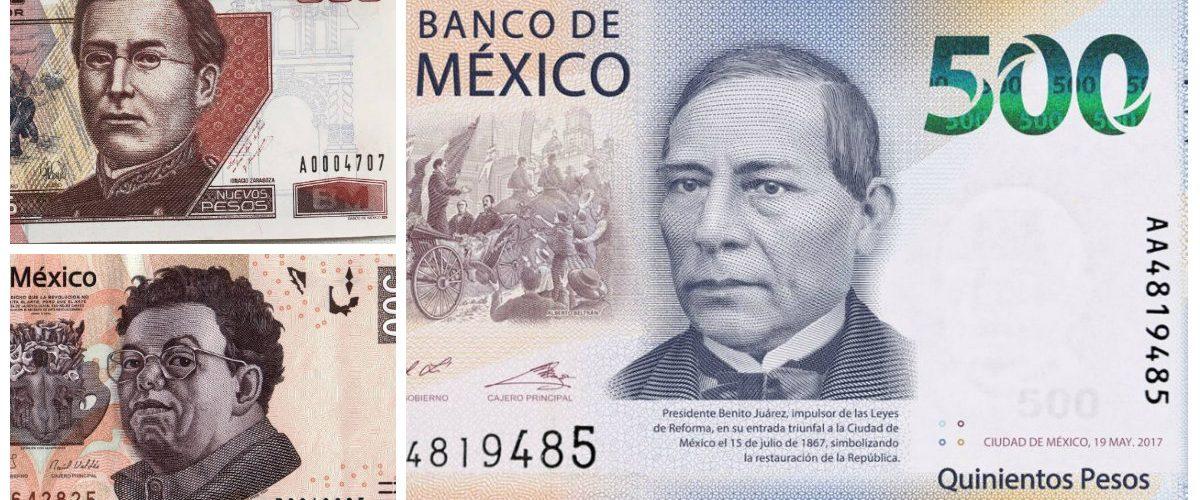 Así han cambiado los billetes mexicanos a lo largo de los años