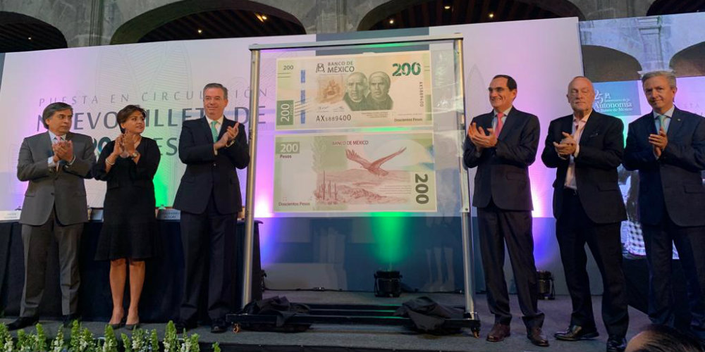 Presentan la nueva imagen del billete de 200; Sor Juana aparecerá en otro