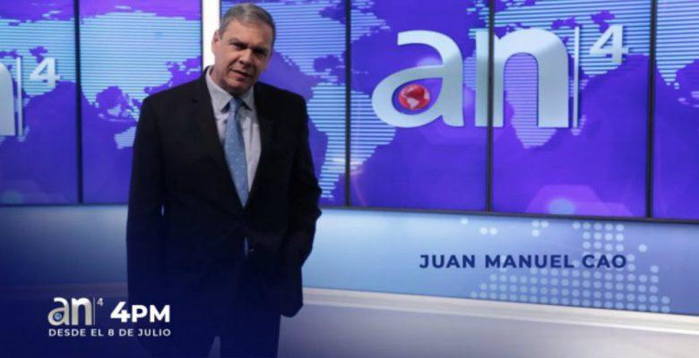 América Tevé estrenará noticiero vespertino con Juan Manuel Cao