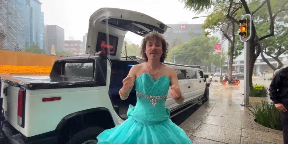 Luisito Comunica sorprende a sus seguidores al aparecer vestido de quinceañera