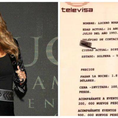Lucero habla del 'catálogo' de Televisa donde supuestamente aparece