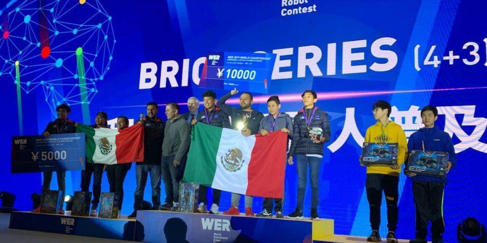 Estudiantes del Conalep ganan el Mundial de Robótica en China