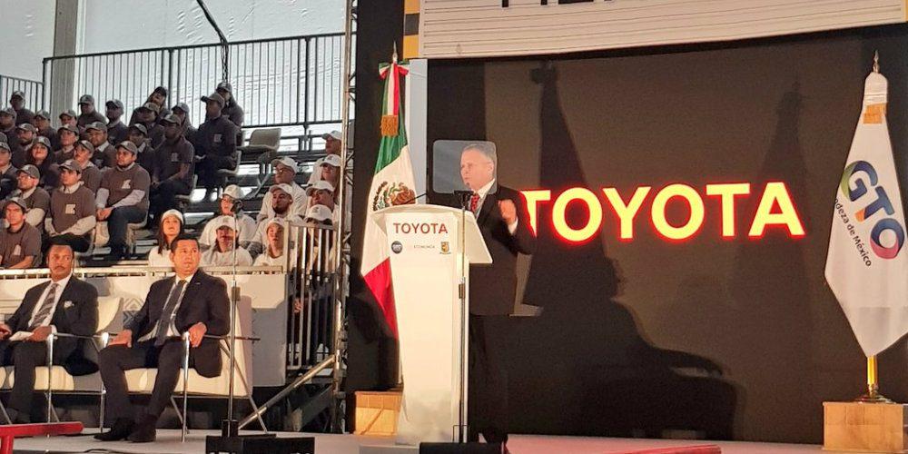 Toyota abre su primera planta en Guanajuato con una inversión de 947 mdd