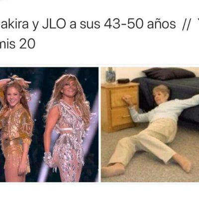 Los mejores memes de Shakira y JLO en el Super Bowl