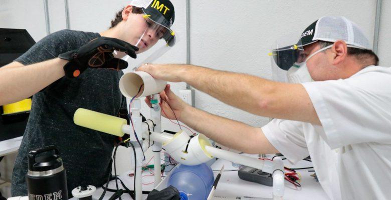 Mexicanos crean un respirador más barato y que funciona sin luz