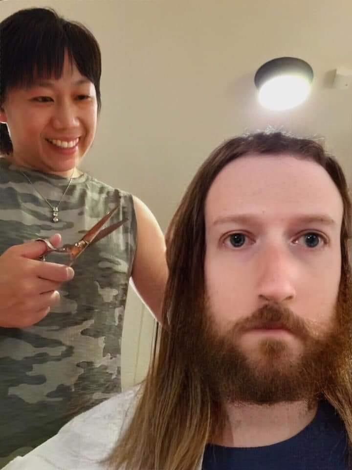 Zuckerberg corte de pelo