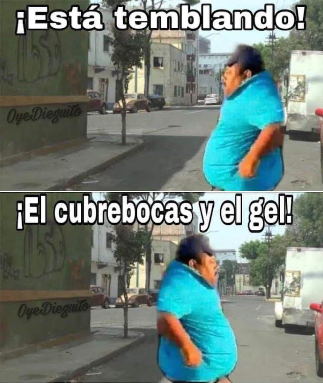 memes sismo México