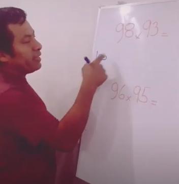 Profesor se hace viral por truco para resolver multiplicaciones